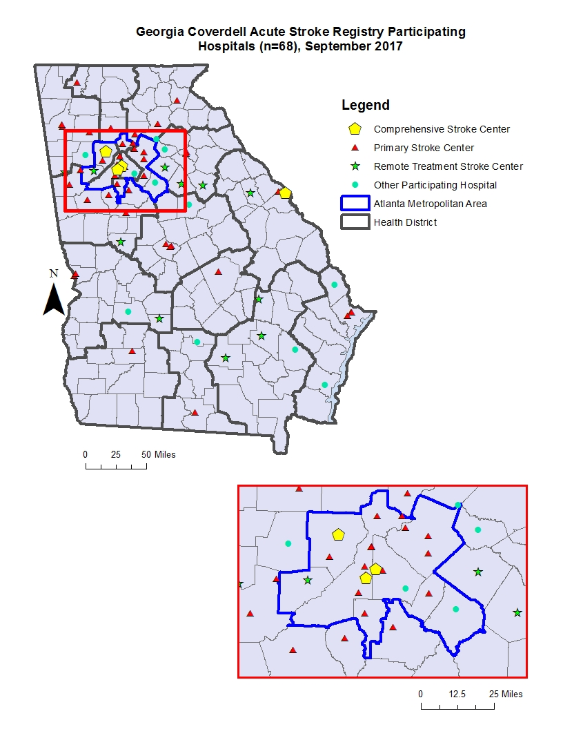 Map Of Georgia Public Health Districts.Georgia Coverdell Acute Stroke Registry Georgia Department Of