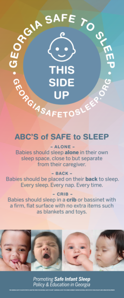 safe to sleep banner