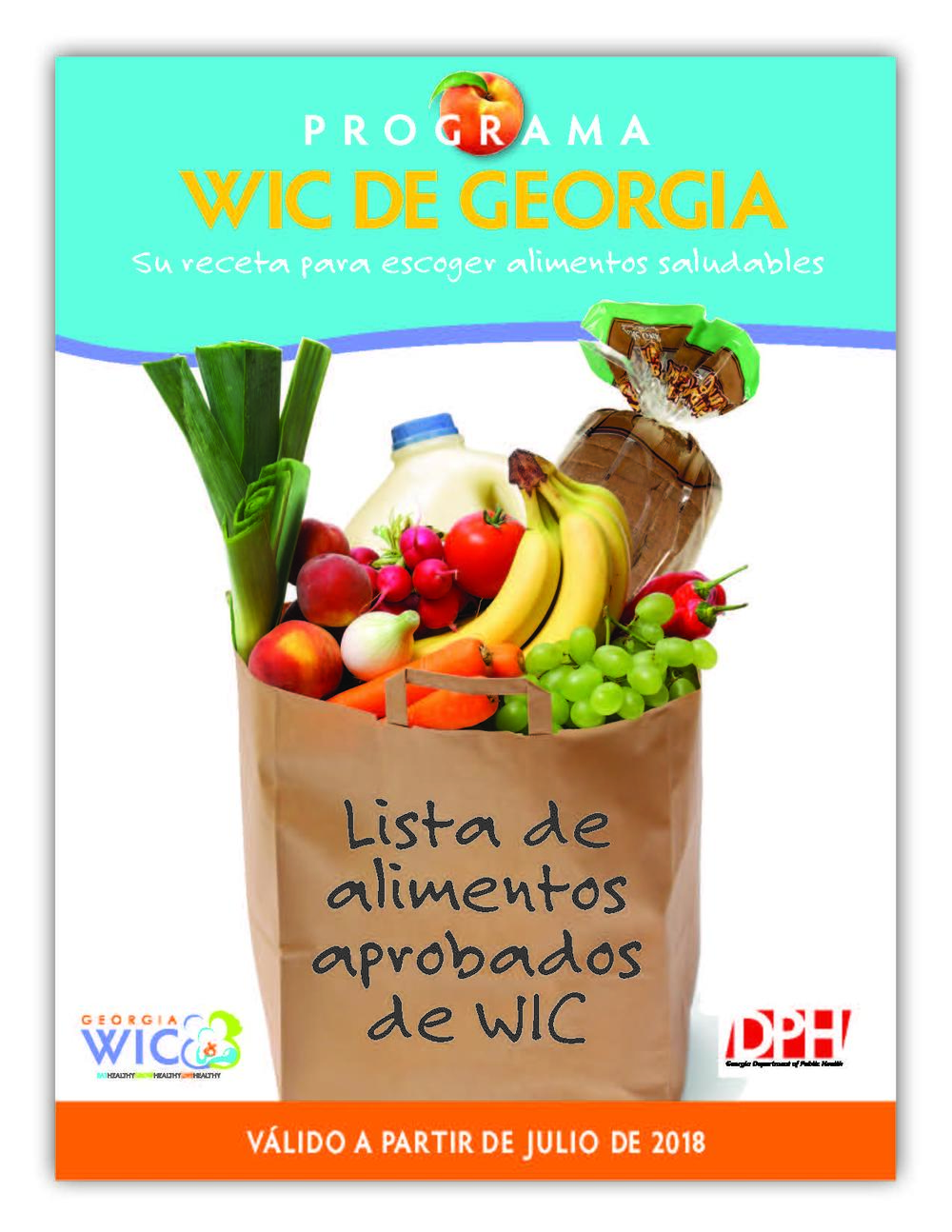 Lista de alimentos aprobados de WIC 2018