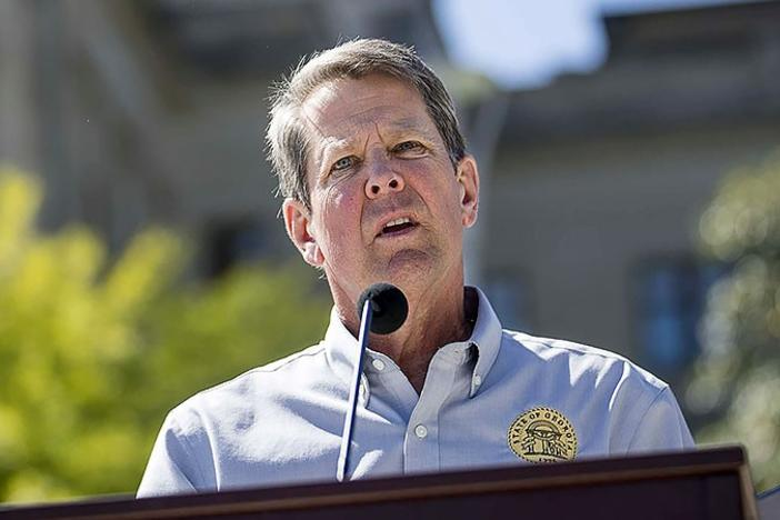 Governor Kemp speaks at news conference
